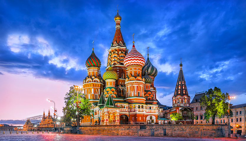 St. Basil's Cathedral in Moscow Russia red square