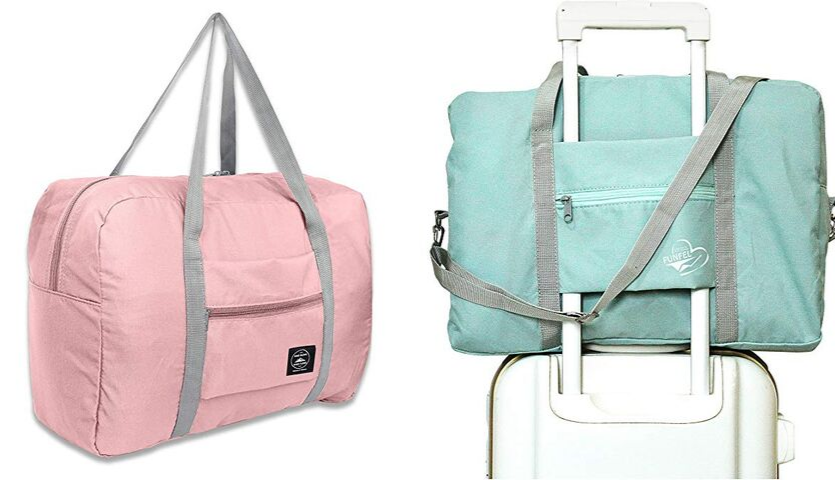 pink and blue folding bags by Funfel