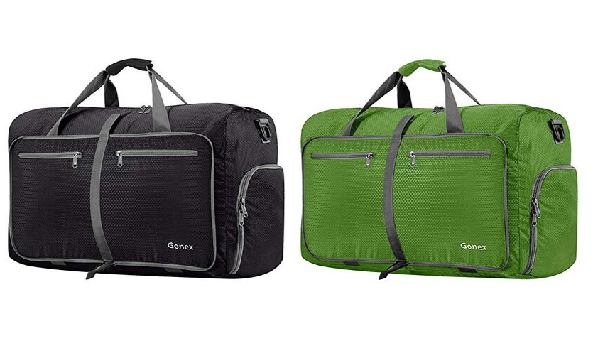 Black and Green Gonex Foldable Bags