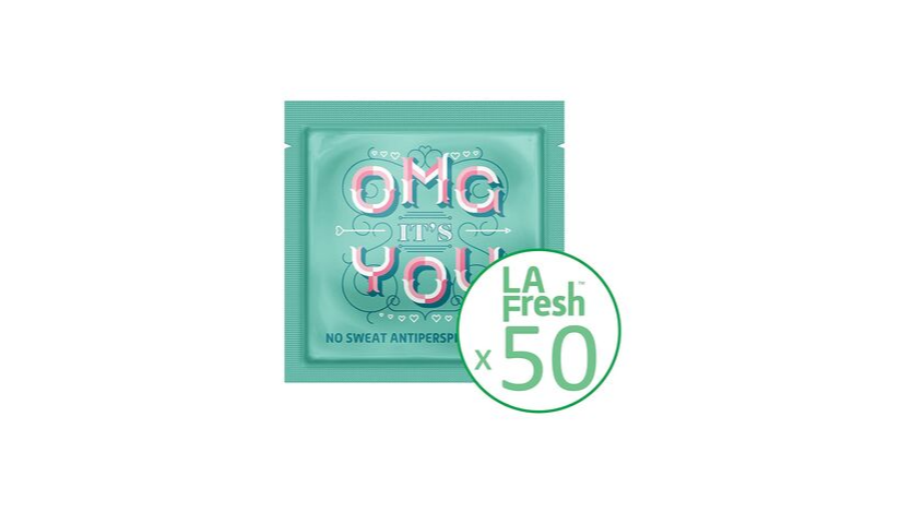 la fresh deodorant wipe package