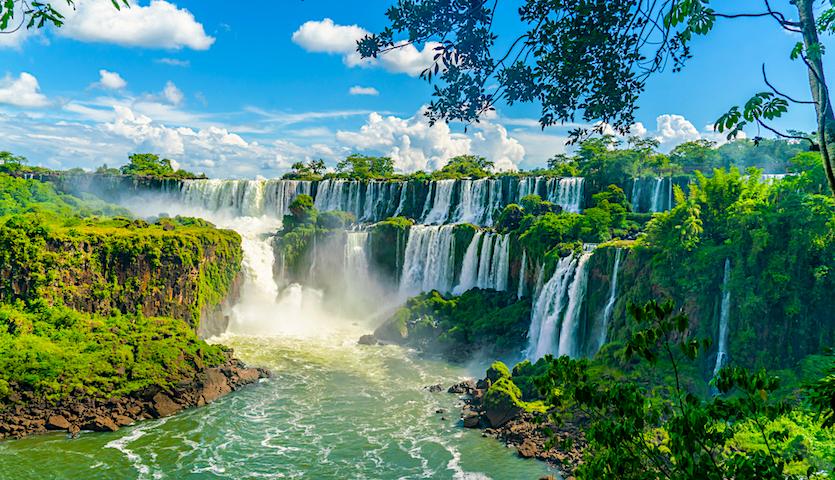 Iguazu Igaucu Falls in Brasil and Argentina Waterfalls