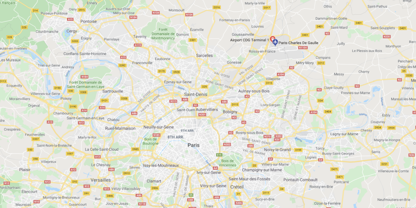 Map-of-Charles-de-Gaulle-Airport-and-Paris