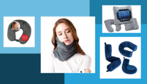A variety of neck pillows in different styles