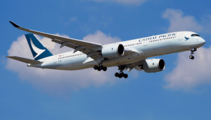 Cathay Pacific A350 landing