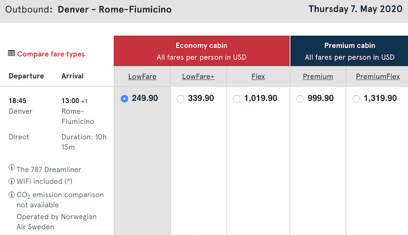 cheap-flight-from-denver-to-rome-250-USD-one-way-norwegian