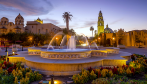 fountain at balboa park in san diego