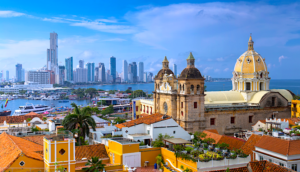 skyline of cartagena colombia