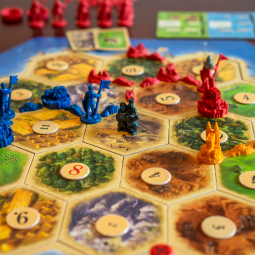 settlers of catan popular board game with friends at home