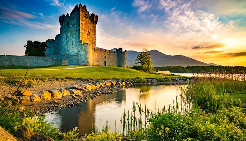 ross castle near shannon ireland