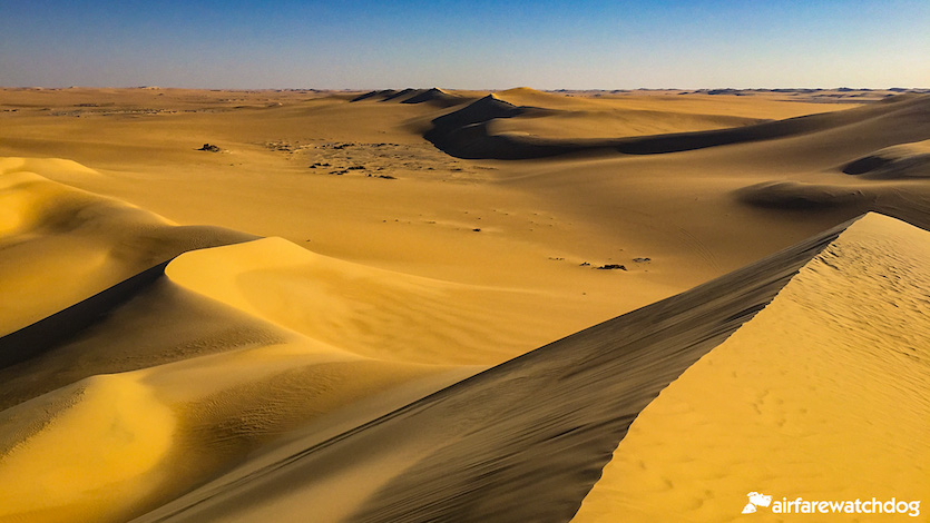Sand dunes in Sinai Egypt